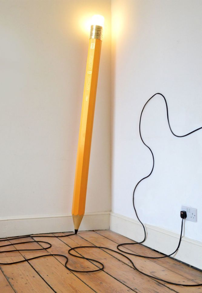 Pencil lamp Extraordinarily creative and splendid lamp for your home