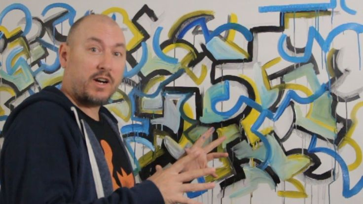 HOW TO Paint ABSTRACT Graffiti Style with ACRYLICS on CANVAS w RAEART