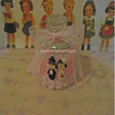 couple pink jar (can request color), exclusive gift for guest,www.souvenir-fashionshop.com