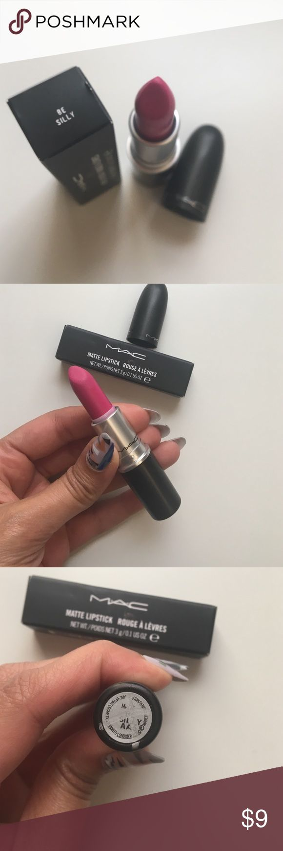 MAC Matte Lipstick in Be Silly MAC Matte Lipstick in Be Silly. Purchased at MAC sample sale. Used once! Comes with original box.   My Poshmark closet offers 10% off 2+ items! MAC Cosmetics Makeup Lipstick