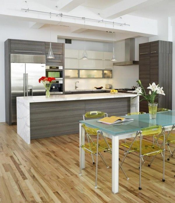 Contemporary The Focus Of This Kitchen Design Is Pure Functionality With Its Clean Open Spaces And Rudimentary Shapes Unconventional Rolling Folding