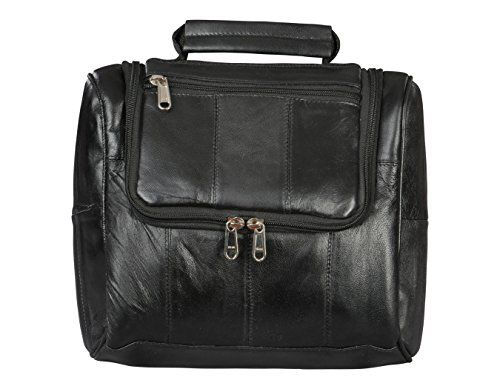 Leather Shaving Bag by Bayfield BagsTM-Hanging Toiletry Travel Bag for Men-Toiletries Organized