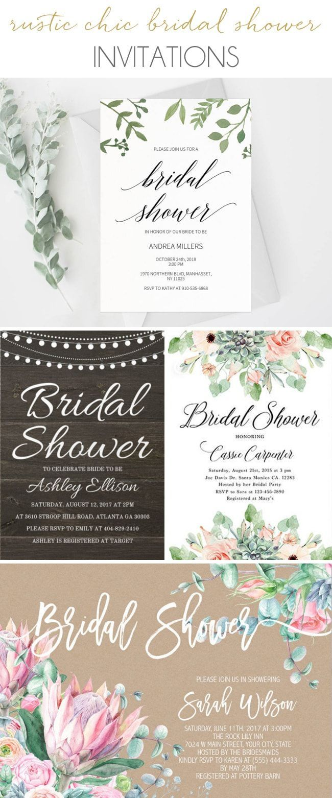 Get the Look: Rustic Chic Bridal Shower (Invitations) | SouthBound Bride