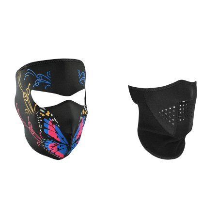 Zan Headgear Value Bundle consisting of 1 ZanHeadgear 'Butterfly Mouth' Full Face Neoprene Face Mask -AND- 1 Zan, 3-Panel, 'Solid Black' Half Face Neoprene Face Mask, Ski Mask -   Price:  .rTable display: table; width: 620px; font-family: Helvetica; font-weight: normal; cont-color: #CBCBCB; Font-size: 11px;.TR1 display: table-row; background-color: #D2EBED;.TR2 display: table-row;.TC1 {display: table-cell; width: 225px; padding: 9px 30px; border: 0px solid #999;... - https://