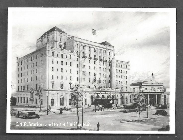 Halifax Photo CNR Railway Station Hotel NS Canada 1928 | eBay
