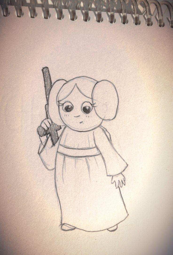 """Croquis """"princesse Leïa"""" 2015"""