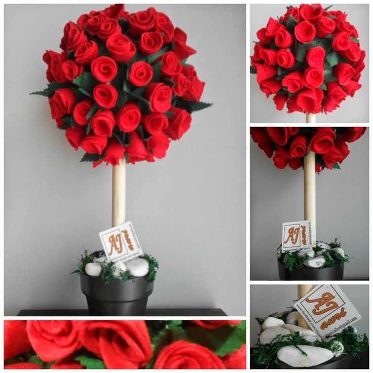64 mejores ideas sobre centro mesa topiarios en pinterest - Hacer un centro de flores ...