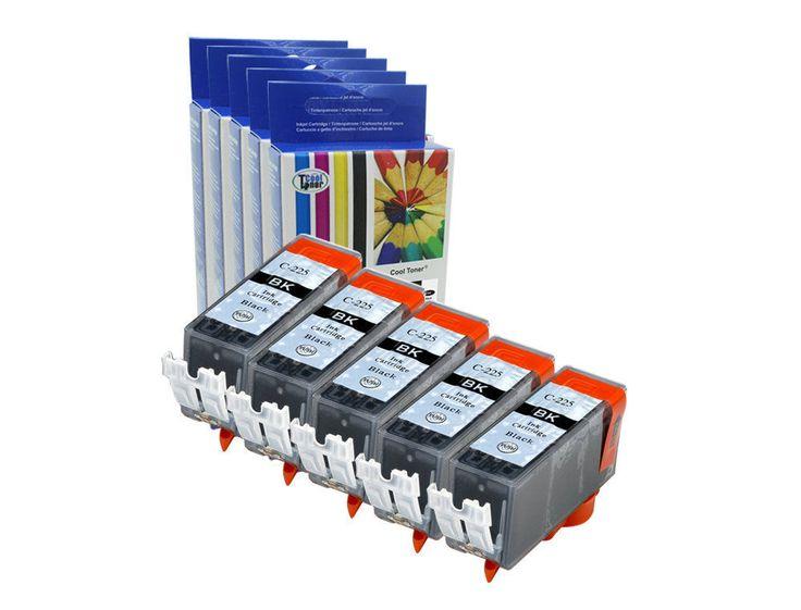 5PK PGI-225 PGI225 Black Compatible Inks for Canon MX712 MX882 MX892 iP4820 4920 #CoolToner