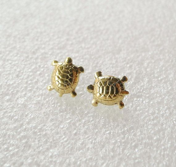 Turtle Earring Studs with Sterling Silver Posts   http://www.etsy.com/listing/115809546/turtle-earring-studs-with-sterling