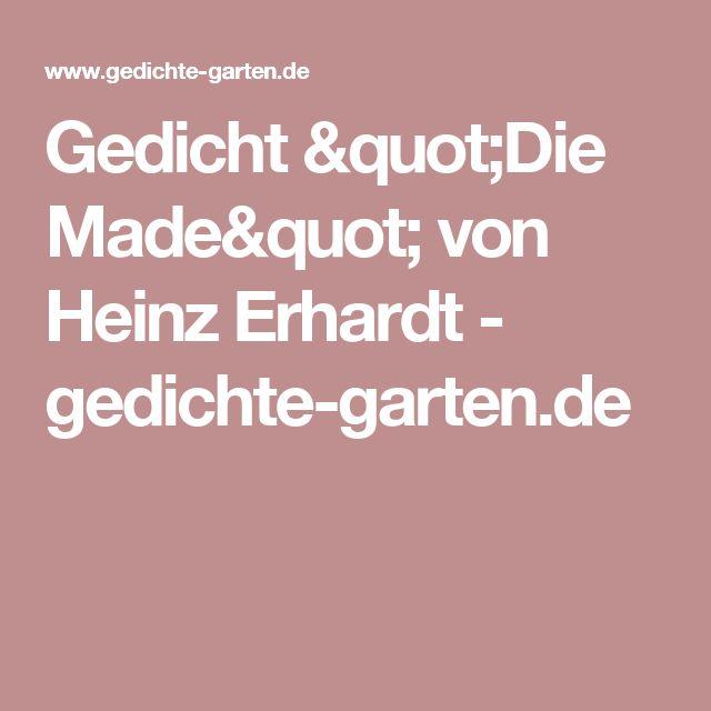 """Gedicht """"Die Made"""" von Heinz Erhardt - gedichte-garten.de"""