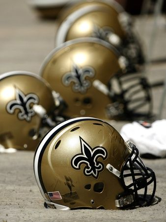 New Orleans Saints Helmets http://thesportsbunker.com/New-Orleans-Saints-Speed-Authentic-Full-Size-Helmet.aspx