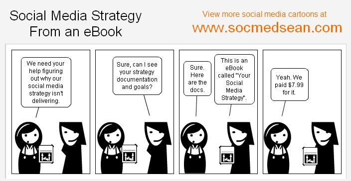 You wouldn't develop your business plan from an eBook, right? Why build your social media strategy from one?