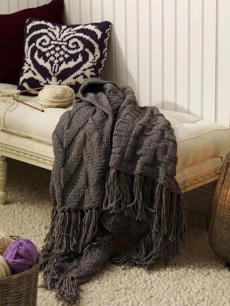 36 besten decken und kissen stricken bilder auf pinterest kissen stricken gestrickte afghanen. Black Bedroom Furniture Sets. Home Design Ideas