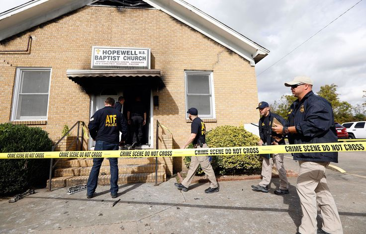 """""""This is a hate crime,"""" said the mayor of a Mississippi town where a historic black church was a target of arson and vandalism Tuesday night.  Greenville Mayor Errick Simmons said that local, state and federal law enforcement agencies, including the FBI and the Bureau of Alcohol, Tobacco and Firearms, were investigating the burning of 111-year-old Hopewell Missionary Baptist Church."""