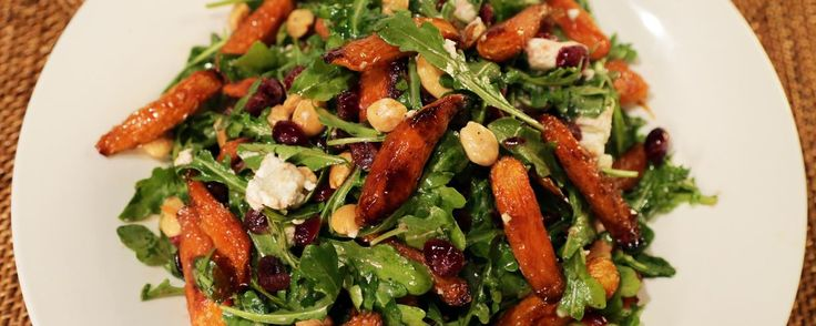 Ina's Maple Roasted Carrot Salad