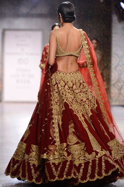 Lehengas , Clothing, Carma, Marsala and gold kasab work dancing figures lehenga set , , , , , , , , , , , ,