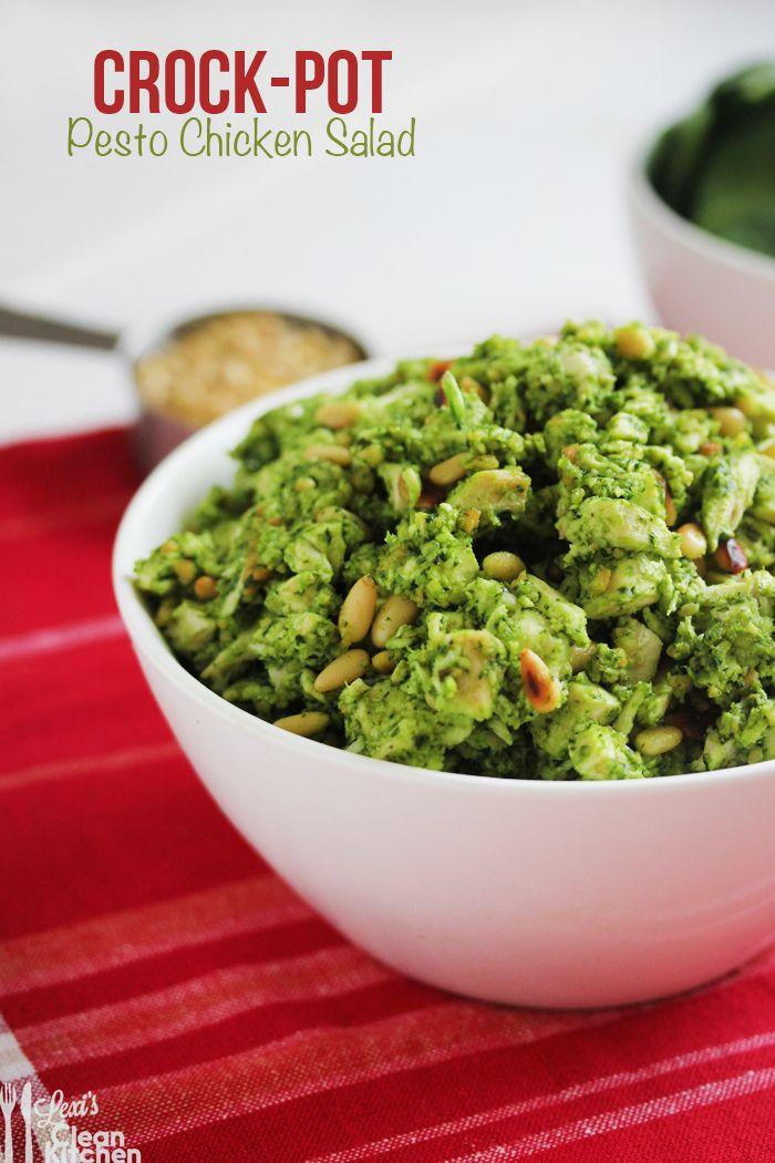 Crock-Pot Pesto Chicken Salad recipe