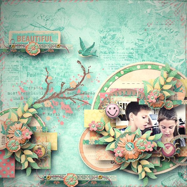 Spring Thing by Blagovesta Gosheva  template Butterfly kiss by Tinci Designs