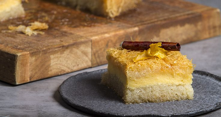 Galaktoboureko - Custard pie with shredded phyllo dough. A wonderful traditional Greek dessert that will drive you wild.