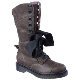 Biker Boots With Ribbon Laces Tough But Girly Too
