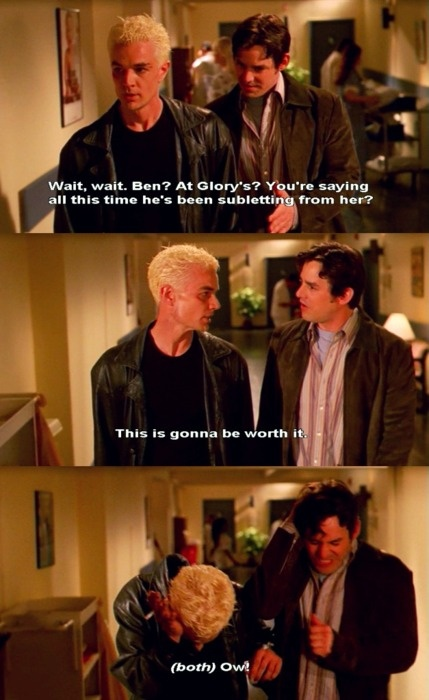 Brilliant Spike and Xander lines :) (Buffy the Vampire Slayer)