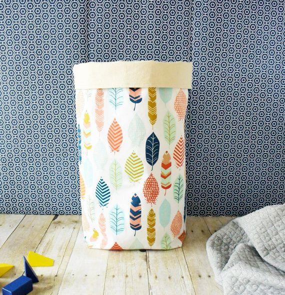 Home Organizer - Large Toy bin - Toy storage - Nursery decor  - Modern storage bin - Fabric bin