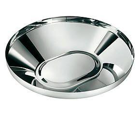 Centrotavola in acciaio argento - d 34 cm