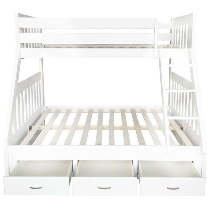 Cornelia Kid's Trio Pine 3 Drawer Bunk Bed in White shopping, Buy Bunk Beds online at MyDeal for best deals, coupons, bargains, sales