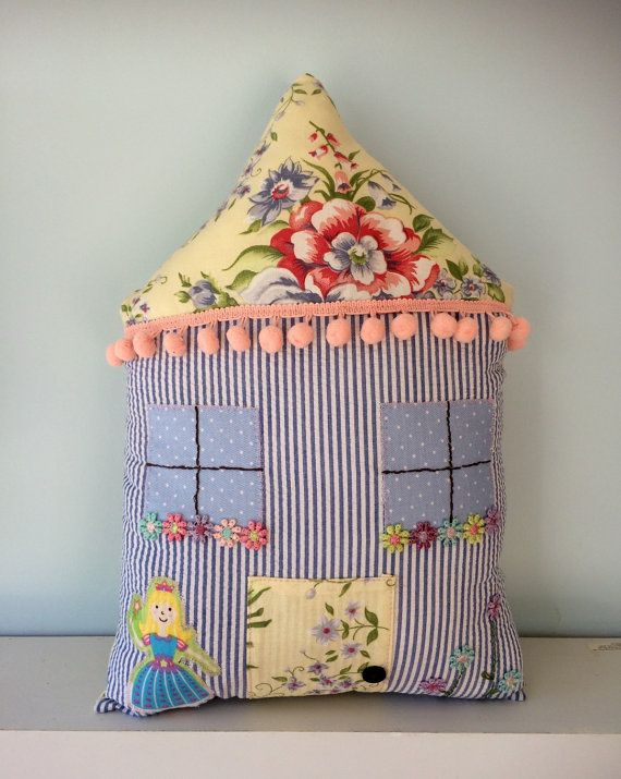 Cute house shaped cushion kids room decoration by SimpleHearts8