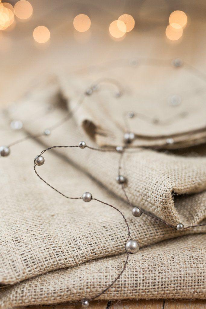 mercury glass beaded garland