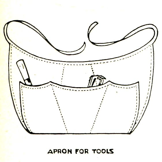 Vintage Crafts and More - Garden Tool Apron Sewing Pattern