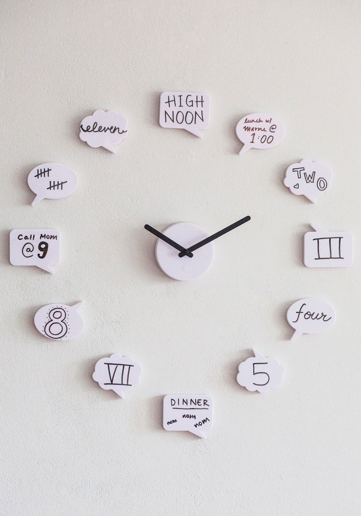 Tick Talk Clock, ModCloth Inspiration for an easy project, could help with teaching elapsed time to the little one.