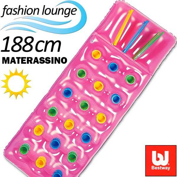Materassino Gonfiabile 188x71 Mare Piscina Campeggio Bestway 50249 Vari Colori