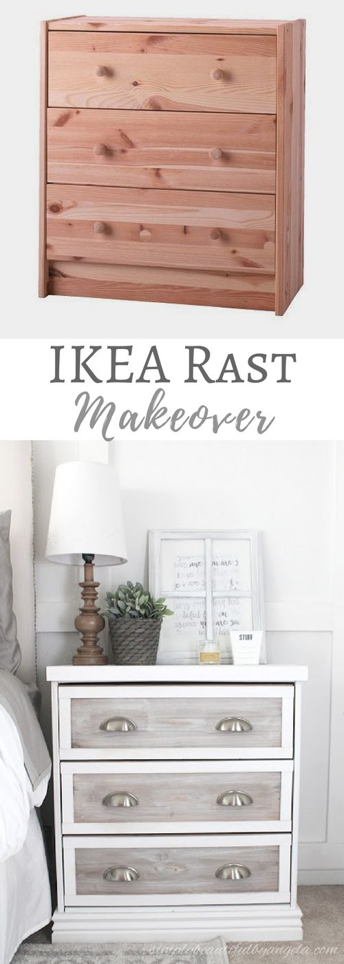 Simply Beautiful By Angela: IKEA Rast Makeover Farmhouse Style