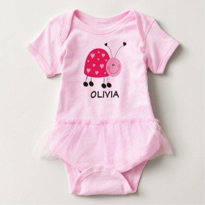 #cute #baby #bodysuits - #Pink Ladybug Tutu Bodysuit