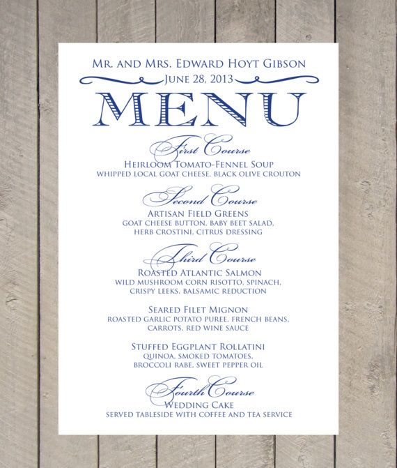 17 Best Images About Menu Mariage Wedding Menu On