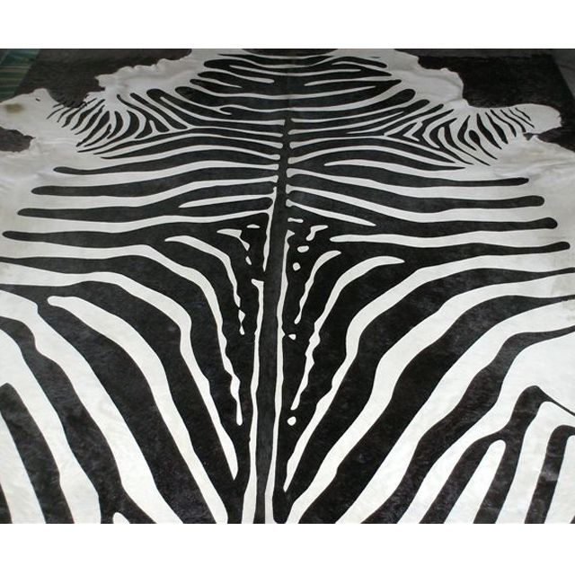 Zebra Print Cowhide|Rugs, Hides & Sheepskins|Rugs and Accessories|French Bedroom Company