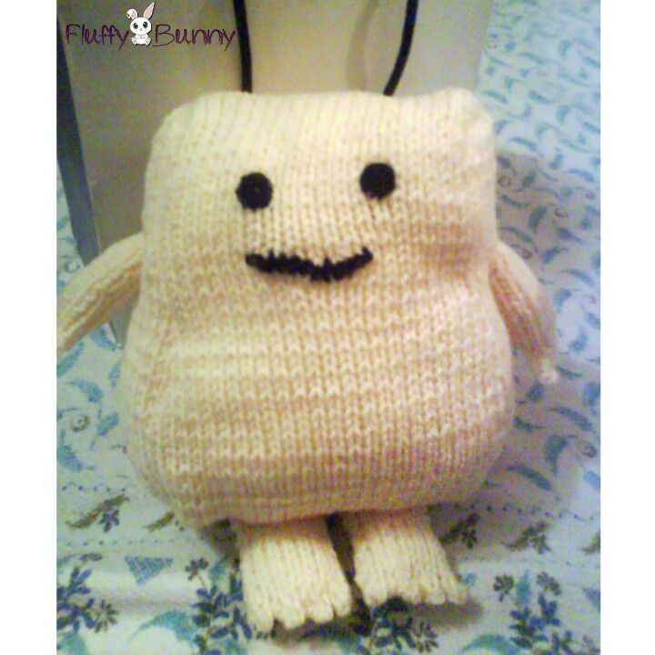 A Dr Who inspired adipose! #knitting #DrWho #stuffedanimal