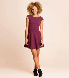 Sukienka z działu CLOCKHOUSE - kolor: fioletowy – niskie ceny w sklepie C&A on-line!