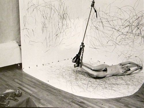 Carolee Schneemann, Up To And Including Her Limits, crayon on paper, 1973–76