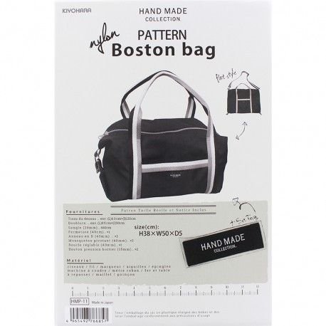 "Patron Sac Hand Made collection ""Nylon Boston bag"" - Ma Petite Mercerie"