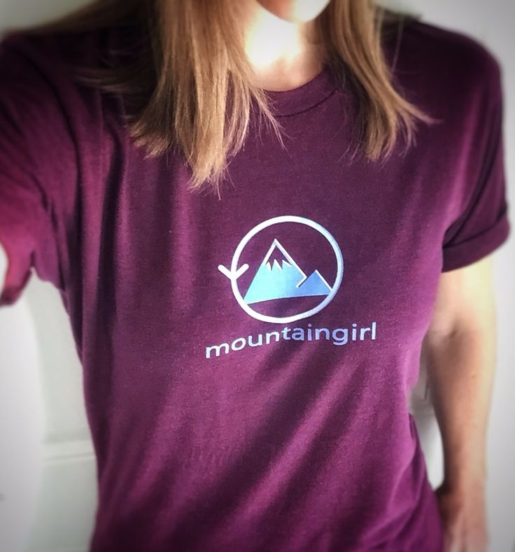 Where are my #mountaingirls at? Women's tri-blend American Apparel unisex tee - the softest comfiest and cutest tee I own! I say we start a Mountain Girl revolution - who's with me? 💜