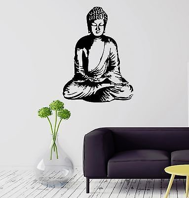 Wall Sticker Buddha Meditation Buddhism Religion Mantra Vinyl Decal (ig1165)