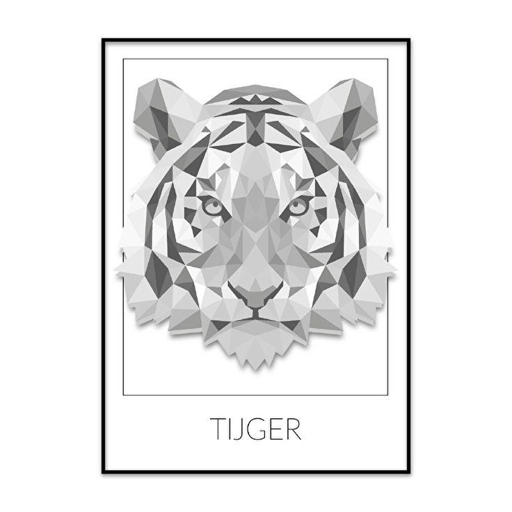 Geometrische tijger illustratie