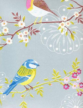 Vintage bird wallpaper uk