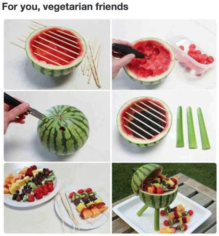 Summer BBQs for vegetarians.