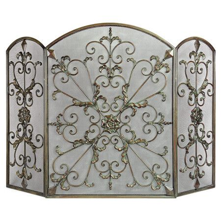 Fireplace Screens Wrought Iron Fireplace Screen And Fireplaces On Pinterest