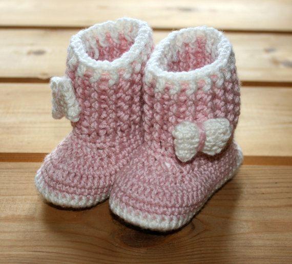 Booties Baby girl crochet booties 3 6 9 by crochetyknitsnbits, £17.99
