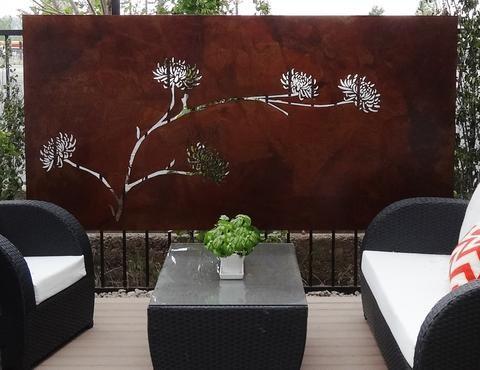 Contemporary Outdoor Steel Wall Art - Denver, CO   Creative Living
