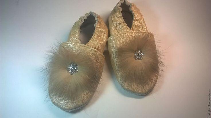Купить Кожаные женские мокасины для занятия спортом,женская обувь - пинетки, Тапочки ручной работы